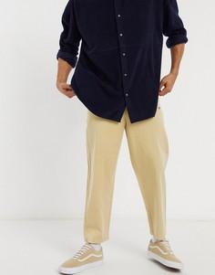 Светло-бежевые брюки с широкими штанинами Champion Reverse Weave-Серый
