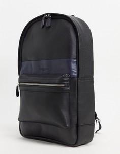 Кожаный рюкзак в стиле колор блок Silver Street-Черный цвет