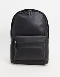 Кожаный рюкзак Silver Street-Черный цвет
