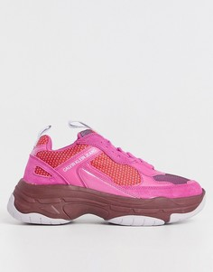 Ярко-розовые кроссовки Calvin Klein Jeans-Розовый цвет