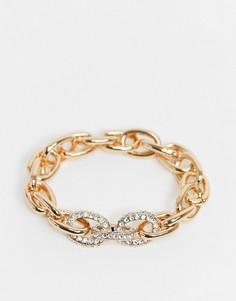 Золотистый браслет-цепочка со стразами ALDO Shepstone