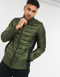 Легкая дутая куртка оливкового цвета с небольшим логотипом Calvin Klein-Зеленый цвет