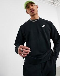 Черный свитшот с круглым вырезом Nike-Черный цвет
