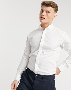 Белая рубашка под смокинг Selected Homme-Белый