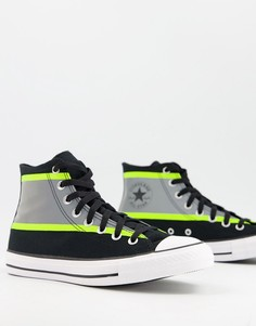 Черно-желтые высокие кроссовки со светоотражающими элементами Converse Chuck Taylor All Star Hi Vis-Черный цвет