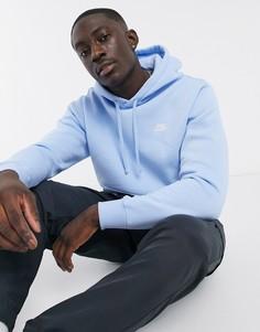 Бледно-голубой худи Nike Club
