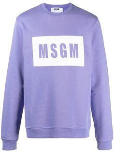 MSGM толстовка с круглым вырезом и логотипом