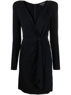 Emporio Armani платье с запахом и завязками