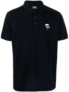 Karl Lagerfeld рубашка поло с вышивкой Karl