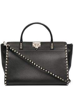 Valentino Garavani сумка-тоут Rockstud из зернистой кожи