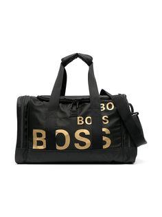 BOSS Kidswear спортивная сумка с логотипом