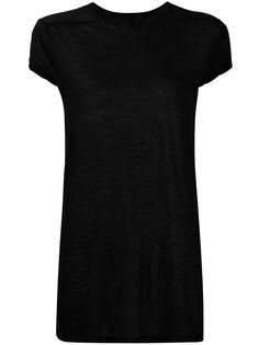 Rick Owens футболка с полупрозрачными рукавами и круглым вырезом