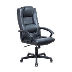 Кресло руководителя БЮРОКРАТ T-9906N, на колесиках, кожа, черный [t-9906n/black]