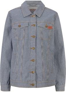 Куртка джинсовая в полоску Bonprix