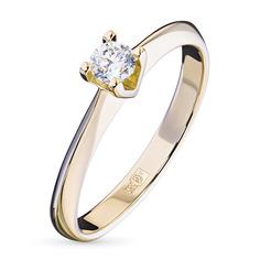 Кольцо из золота с бриллиантом э0301кц04203137 ЭПЛ Якутские Бриллианты