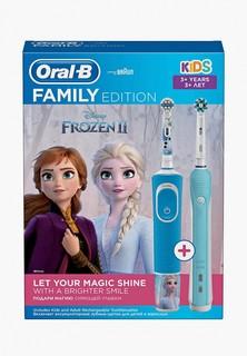 Комплект зубных щеток Braun Oral-B Family Pack (Pro 1 и Kids «Холодное Сердце 2»)
