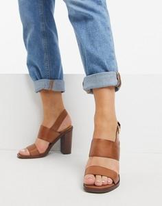 Коричневые босоножки на блочном каблуке Aldo-Светло-коричневый