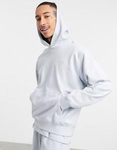 Голубой худи премиум-класса от комплекта adidas Originals