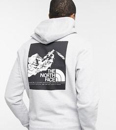 Худи светло-серого цвета с принтом на спине The North Face – эксклюзивно для ASOS-Серый