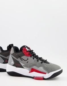 Дымчато-серые кроссовки Nike Air Jordan Zoom 92-Серый