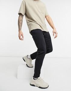 Черные джинсы скинни Bershka-Черный цвет