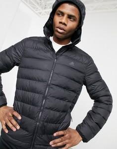 Черный пуховик с капюшоном adidas Outdoors-Черный цвет
