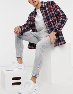 Серые джинсы супероблегающего кроя Bershka-Серый