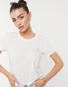 Кремовая футболка с маленьким логотипом Levis Perfect-Белый