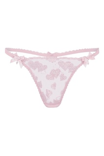 Розовые прозрачные трусы стринги Milena Agent Provocateur