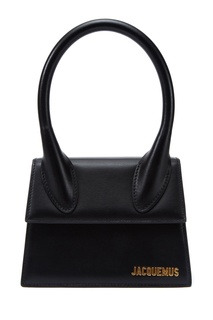 Черная кожаная сумка Le Chiquito Moyen Jacquemus