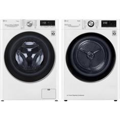 Комплект стиральной и сушильной машины LG TW4V7RW1W + DC90V9V9W