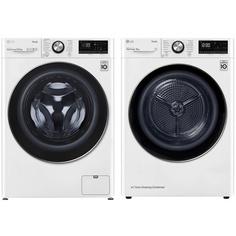 Комплект стиральной и сушильной машины LG TW4V9RW9W + DC90V9V9W