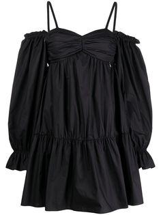 Patrizia Pepe платье с пышными рукавами и оборками