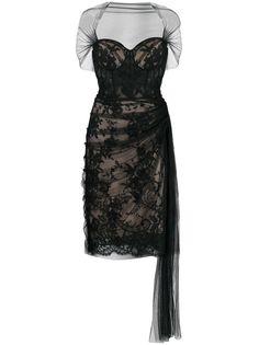 Alexander McQueen платье с кружевными вставками