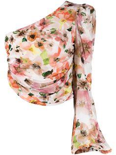 Patrizia Pepe топ на одно плечо с цветочным принтом и сборками