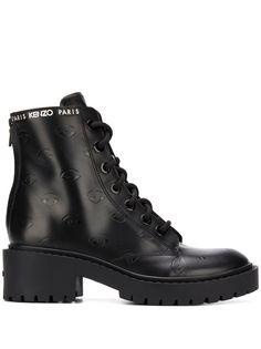 Kenzo ботинки в стиле милитари с тиснением