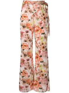 Patrizia Pepe брюки широкого кроя с цветочным принтом