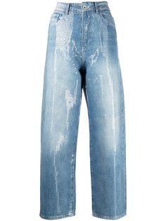 Emporio Armani укороченные джинсы с пайетками