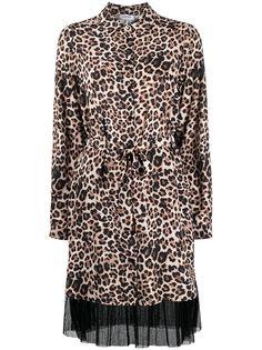 LIU JO платье с леопардовым принтом и поясом