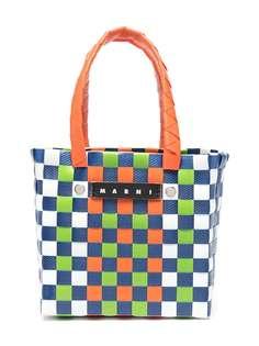 Marni Kids плетеная сумка-тоут с верхними ручками и логотипом