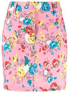 Love Moschino юбка с цветочным принтом