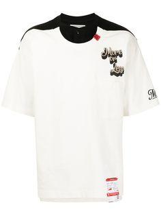 Maison Mihara Yasuhiro футболка с контрастной вставкой
