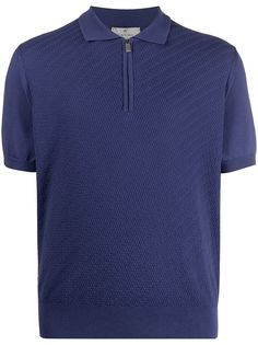 Canali рубашка поло на молнии