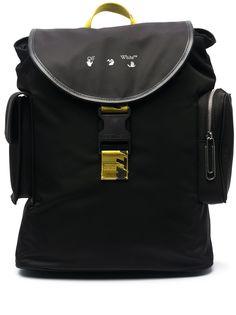 Off-White рюкзак с откидным клапаном и логотипом
