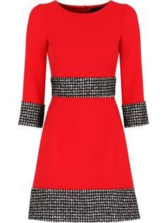 Dolce & Gabbana креповое платье со вставками в ломаную клетку
