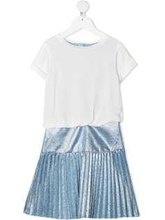 Chloé Kids платье с плиссированной юбкой