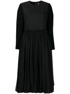 Comme Des Garçons платье со вставками и присборенной юбкой