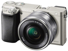 Системный фотоаппарат Sony Alpha A6000 Kit 16-50 Silver