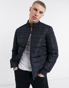 Темно-синяя куртка-пуховик с маленьким логотипом Tommy Hilfiger Arlos-Темно-синий