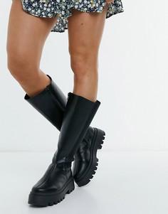 Черные высокие ботинки на массивной подошве ASOS DESIGN Cora-Черный цвет